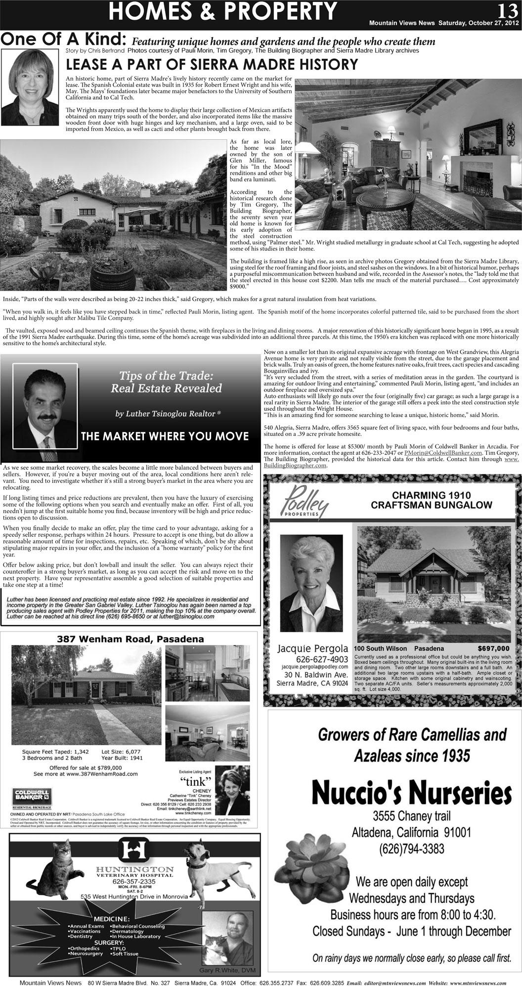 p13, v6 43 — Homes & Property — Mountain Views News