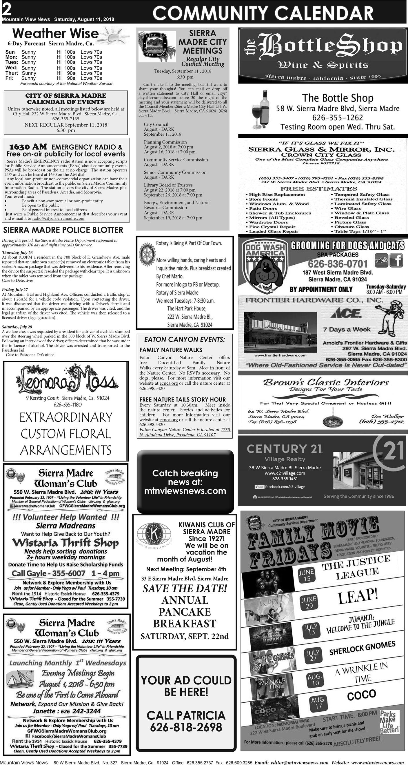 pA:2, v12.32 — Community Calendar — Mountain Views News