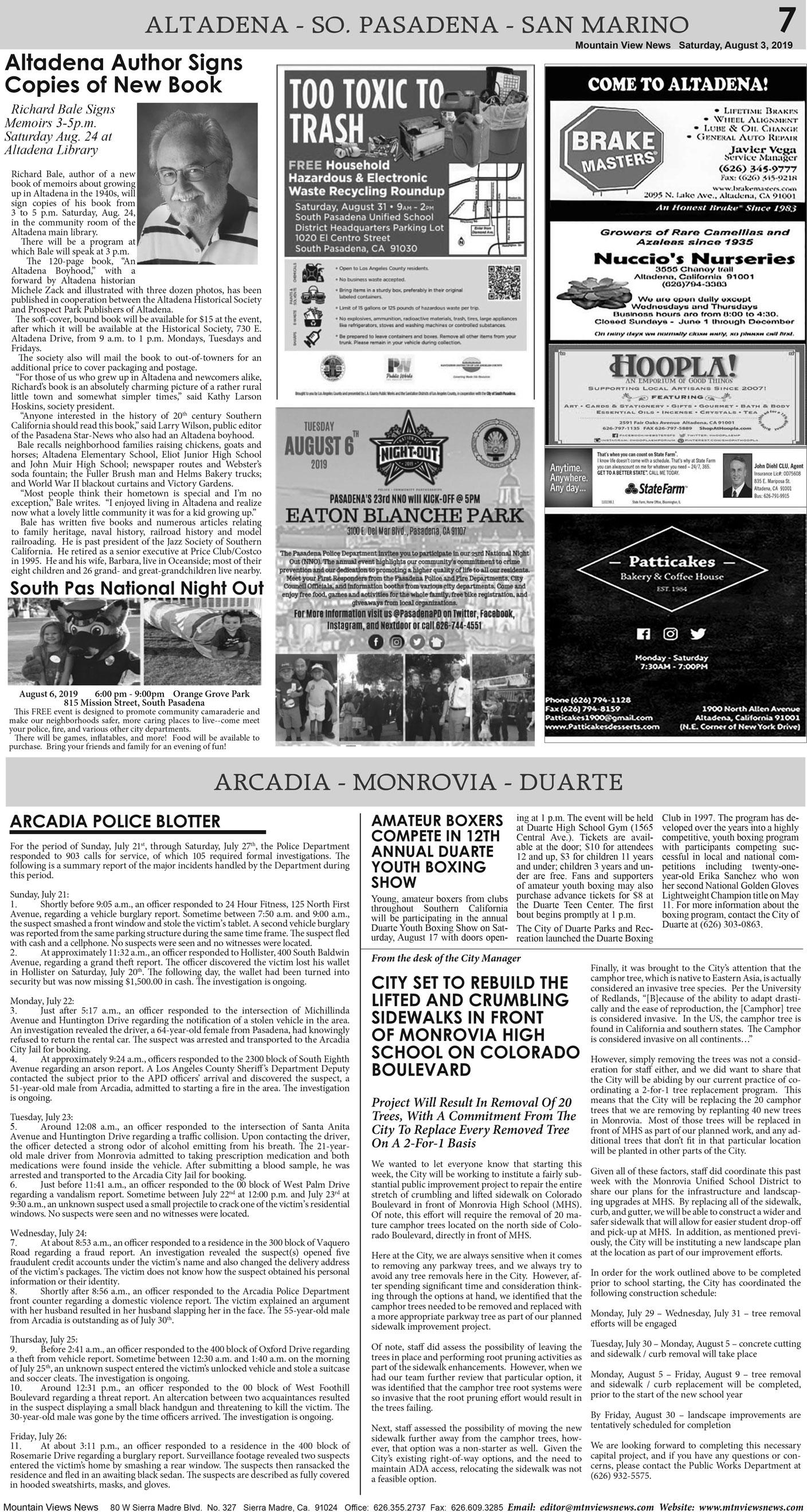 p7, v13 31 — Local City News — Mountain Views News